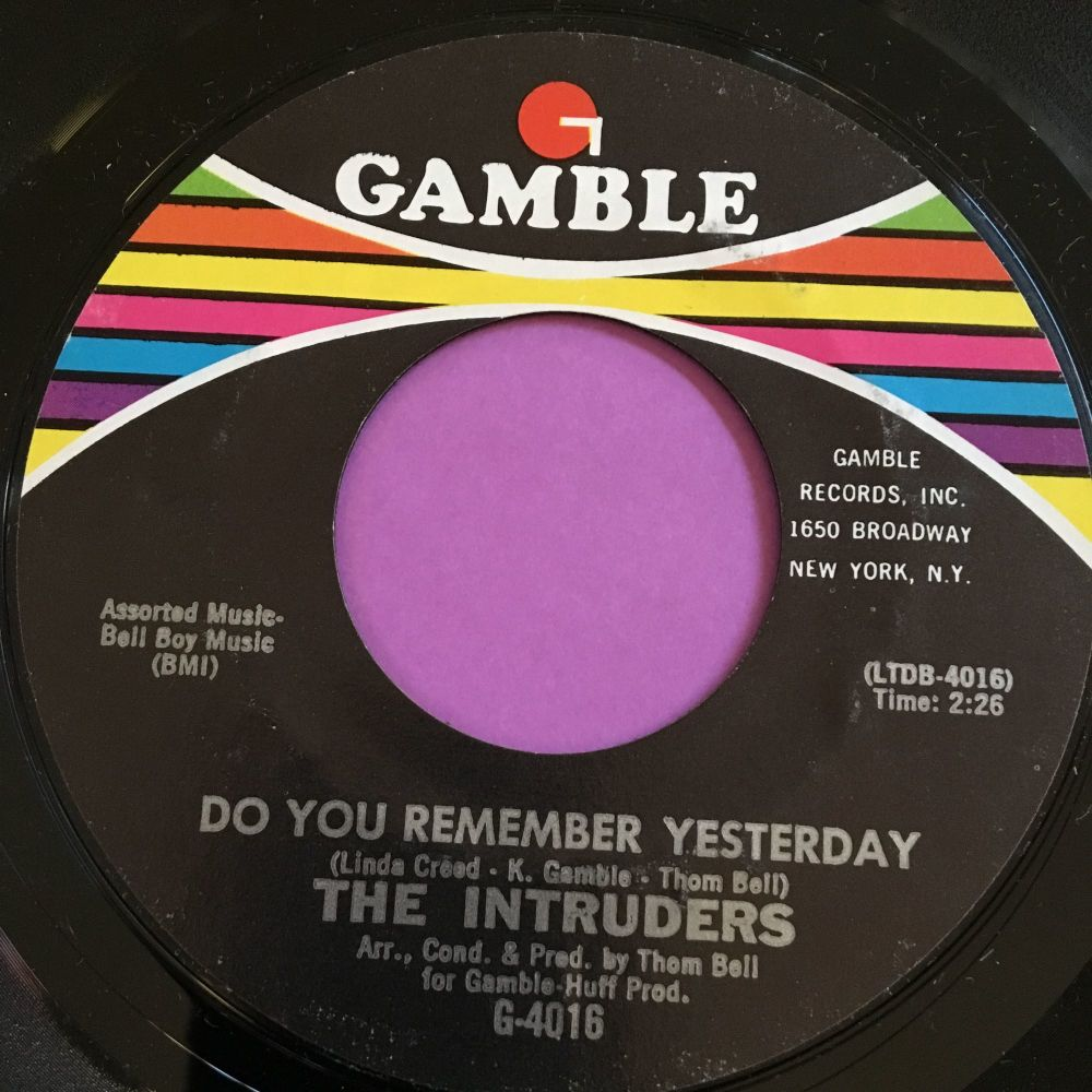 Intruders-Do you remember/I bet he don't love you-Gamble M-