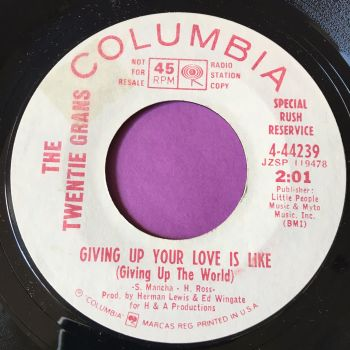 Twentie Grans-Giving up your love-Columbia WD E+