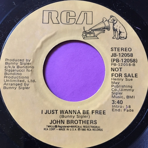 John Brothers-I just want to be free-RCA demo M-
