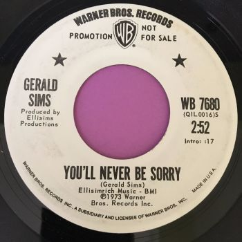 Gerald Sims-You'll never be sorry-WB WD E