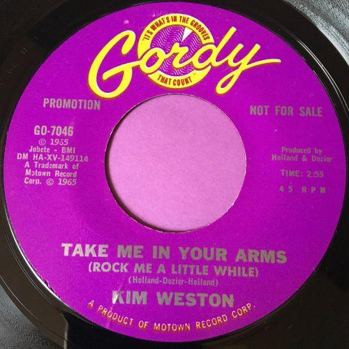Kim Weston-Take me in your arms-Gordy DEMO E+