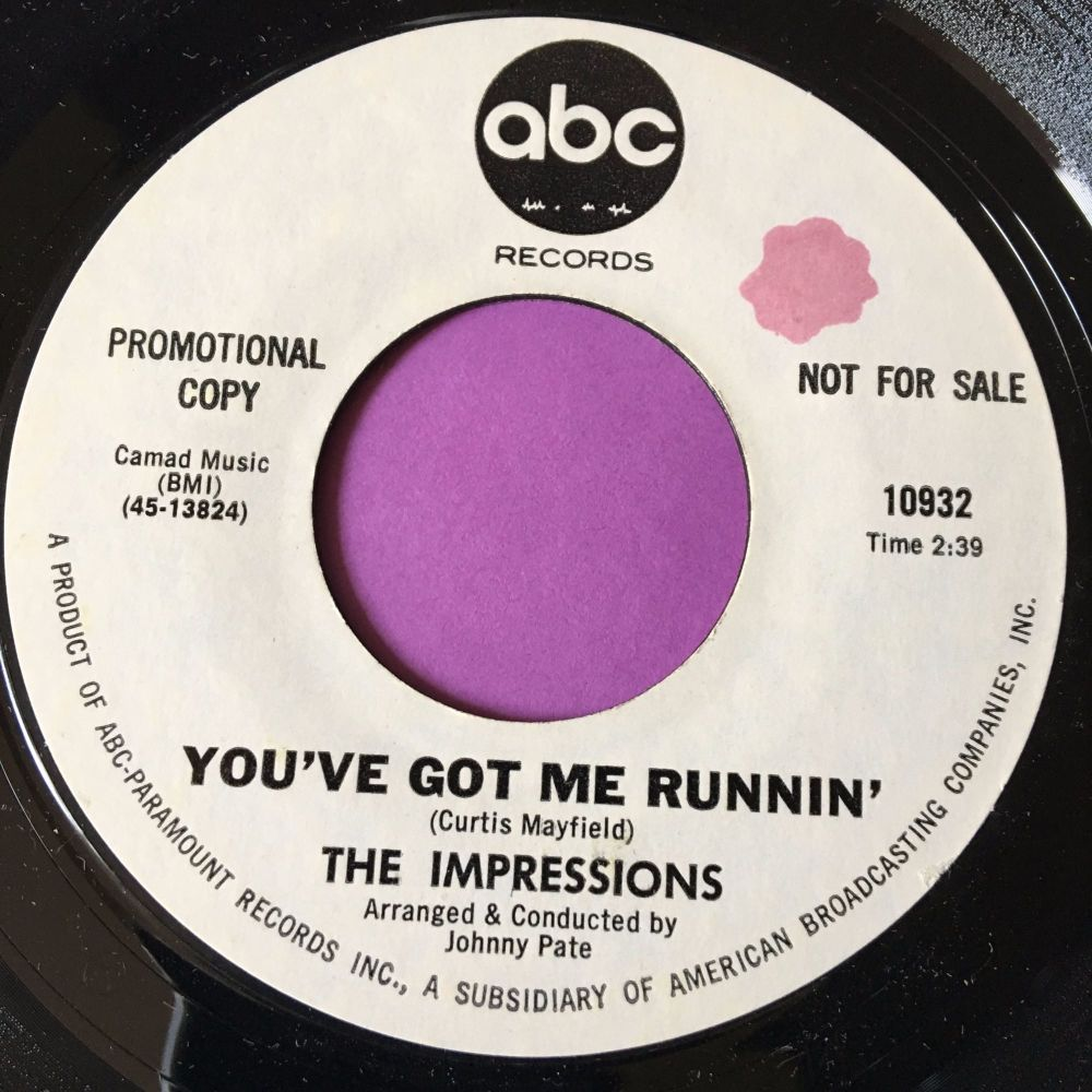 Impressions-You've got me running-ABC WD M-