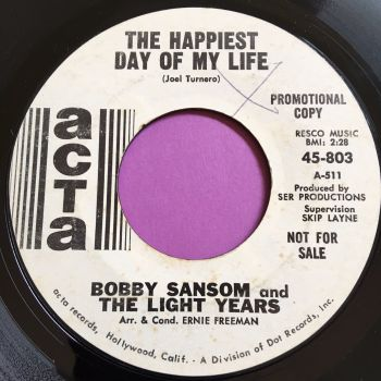 Bobby Sansom-The happiest day of my life-ACTA WD E