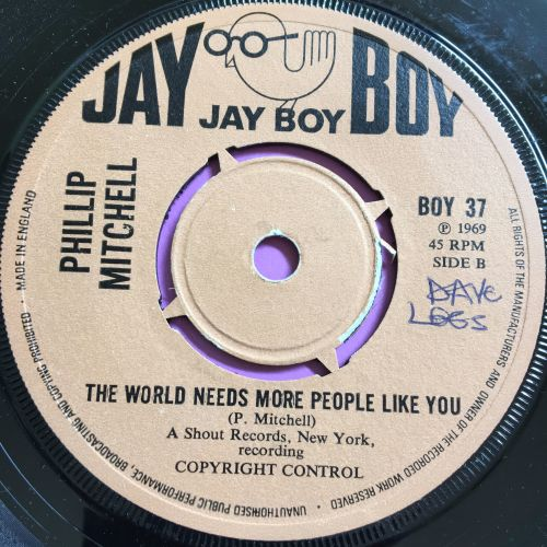 Philip Mitchell-The world needs more people/I'm Gonna build California-UK J