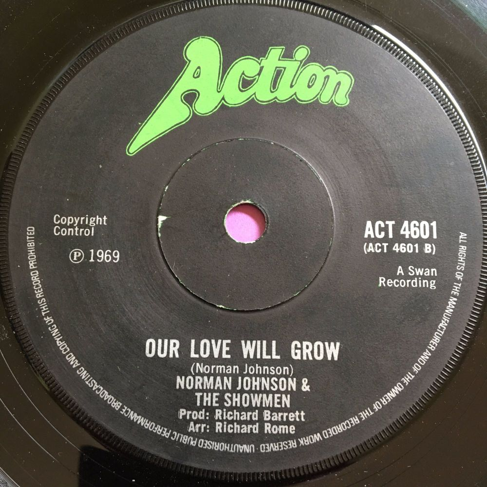Norman Johnson & Showmen-Our love will grow-UK Action E+
