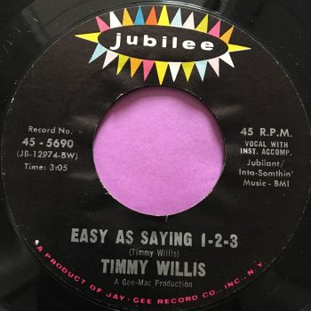 Timmy Willis-Easy as saying 1-2-3-Jubilee E+