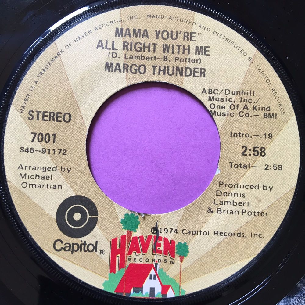 Margo Thunder-Mama you're all right with me-Haven E+