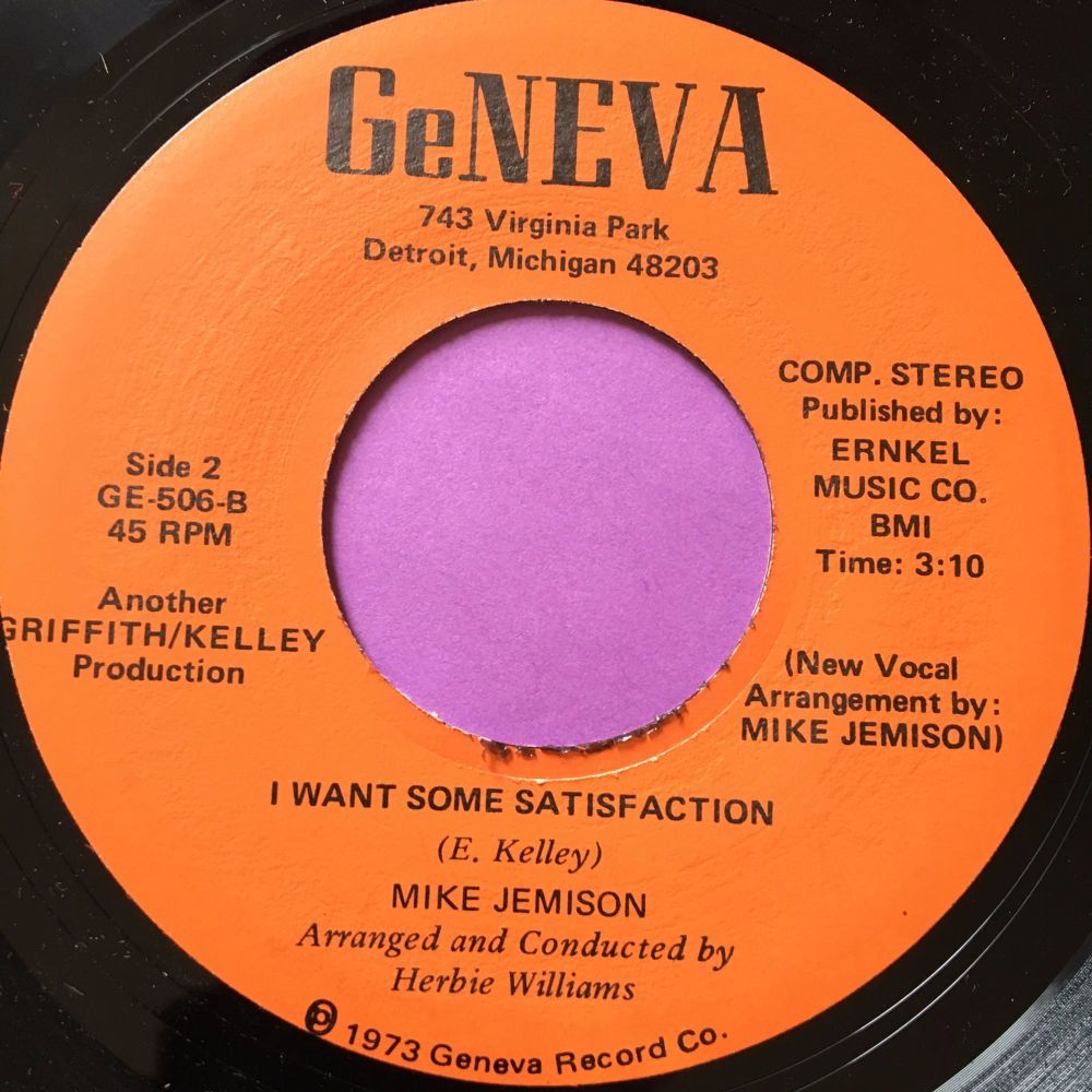 Mike Jemison-I want some satisfaction-Geneva E+