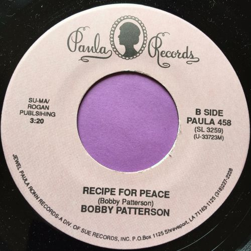 Bobby Patterson-Recipe for peace-Paula M-