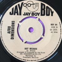 Afro Dimensions-Just because-Jayboy UK E+