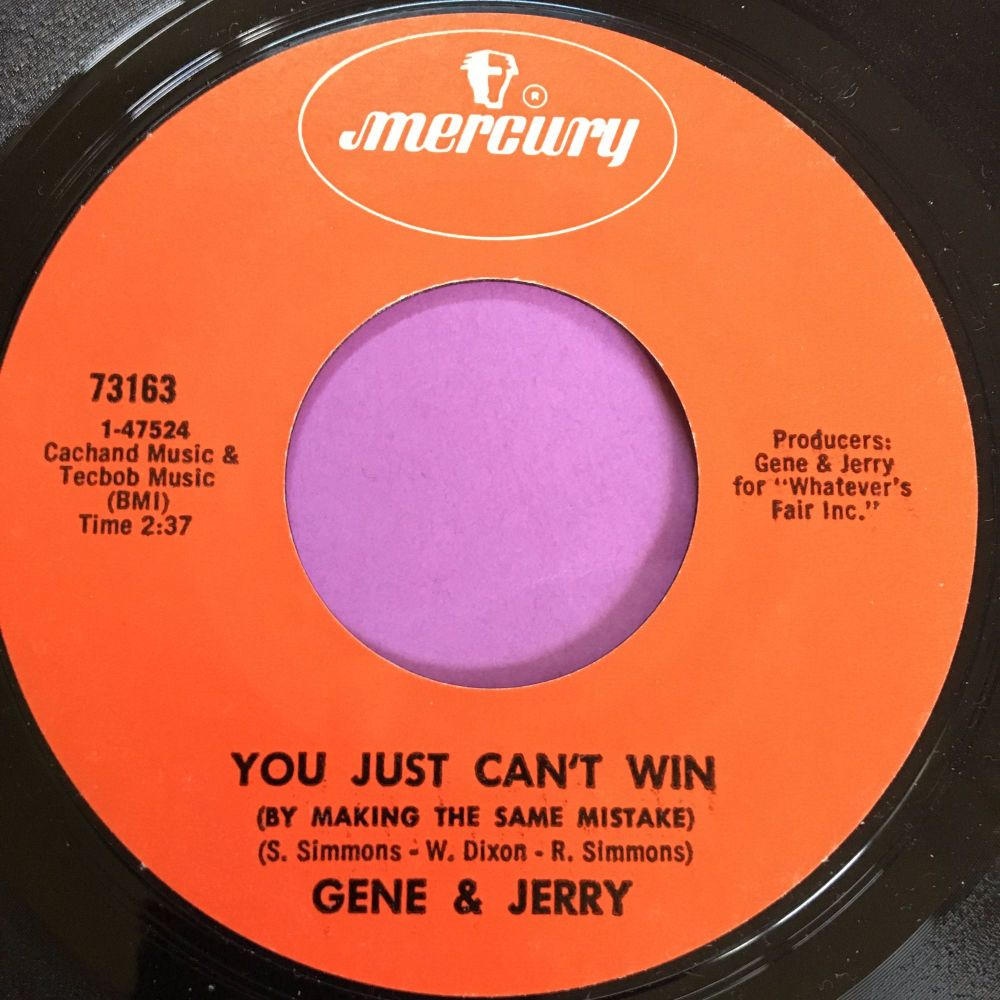 Gene & Jerry-You just can't win-Mercury E+