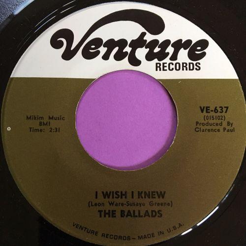 Ballads-I wish I knew-Venture E+