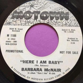 Barbara McNair-Here I am baby-Motown WD E+
