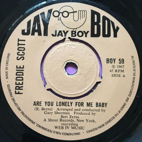 Freddie Scott-Are you lonely for me baby-UK JayBoy E+