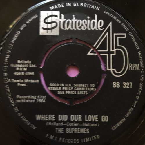 Supremes-Where did our love go-Stateside E
