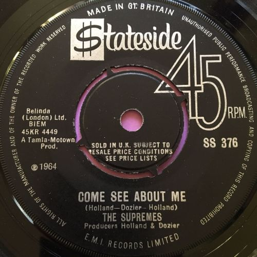 Supremes-Come see about me-UK Stateside E