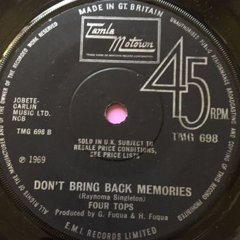 Four Tops-Don't bring back memories-TMG 698 E+