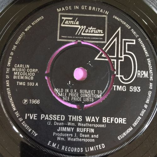 Jimmy Ruffin-I passed this way before-TMG 593 E