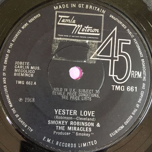 Smokey Robinson & Miracles-Yester Love-TMG 661 E