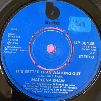 Marlena Shaw-It's better than walking out-UK Blue note E+