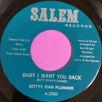 Bettye Jean Plummer-Baby I want you back-Salem E+