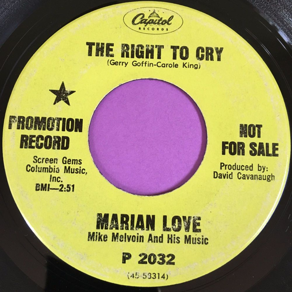 Marian Love-The right to cry-Capitol demo vg+