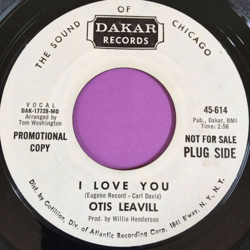 Otis Leavill-I love you-Dakar WD E+