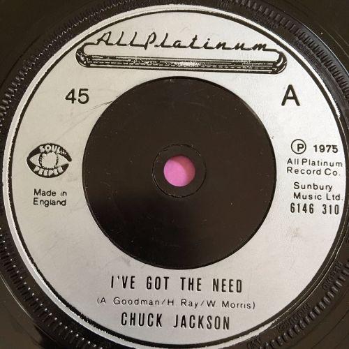 Chuck Jackson-I got the need-UK All platinum E+
