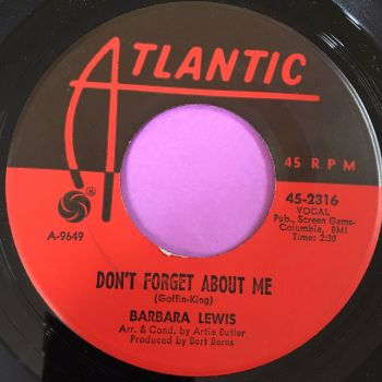Barbara Lewis-Don't forget about me-Atlantic E+