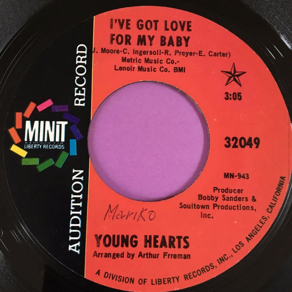Young hearts-I've got love for my baby-Minit Demo wol E+