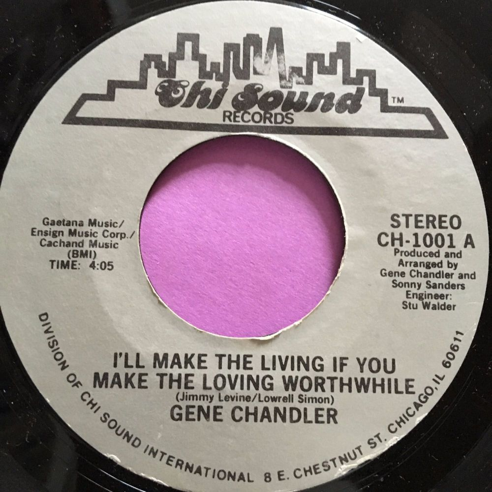 Gene Chandler-I'll make the living if you make the loving-Chi-Sound E+