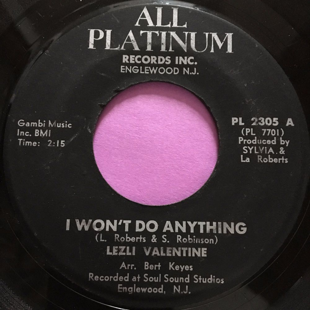 Lezli Valentine-I won't do anything-All Platinum E