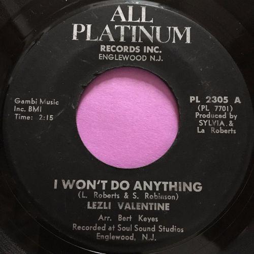 Lezli Valentine-I won't do anything-All Platinum E