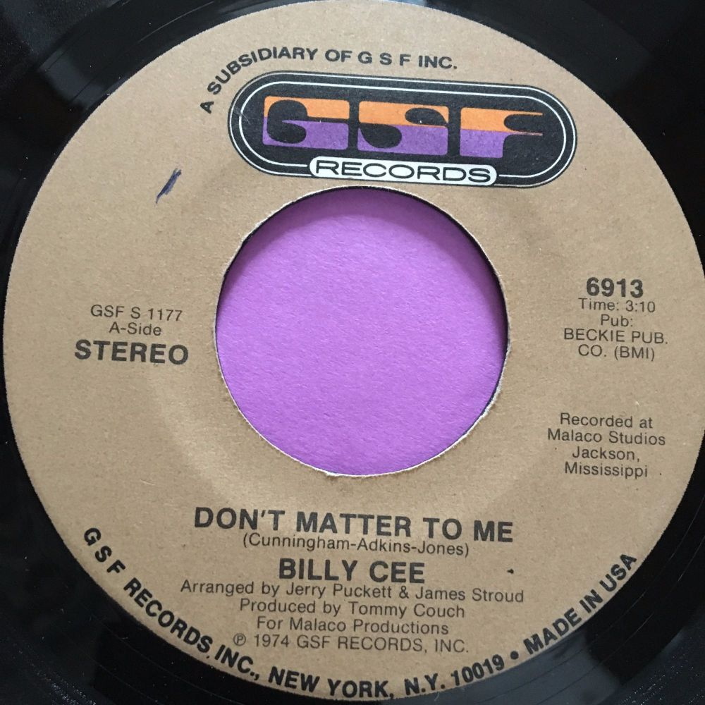 Billy Cee-Don't matter to me-GSF E+