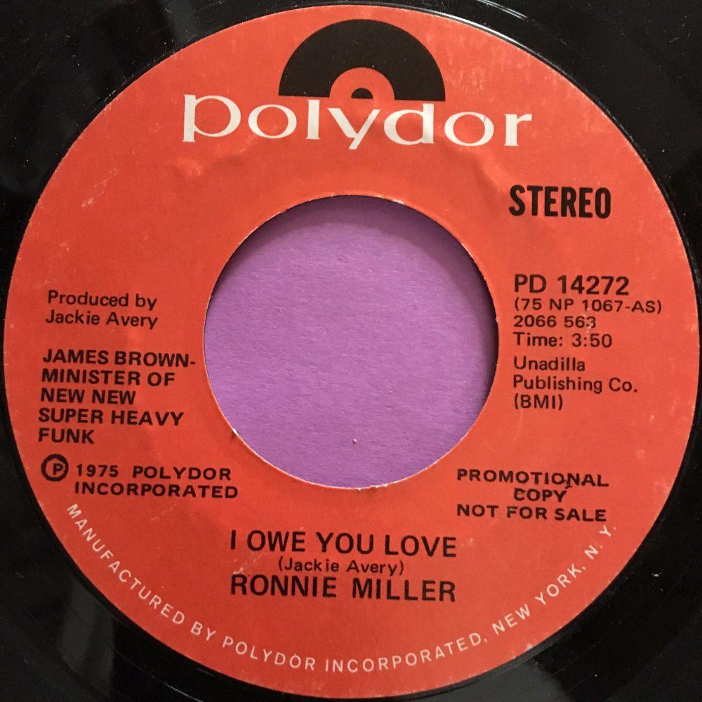 Ronnie Miller-I owe you love-Polydor Demo E+