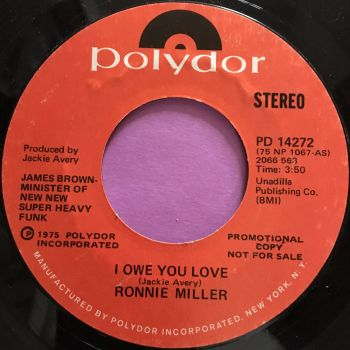 Ronnie Miller-I owe you love-Polydor Demo E+