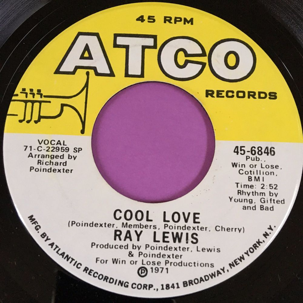 Ray Lewis-Cool love-Atco E+