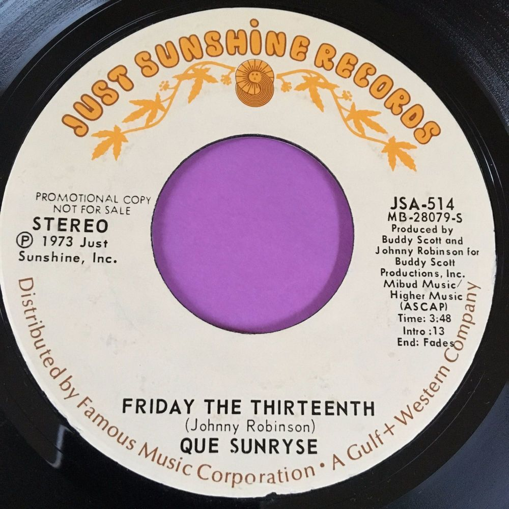 Que Sunryse-Friday the thirteenth-Just sunshine E+