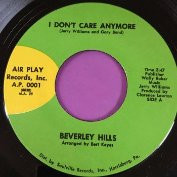 Beverley Hills-Don't care anymore-Air play E+