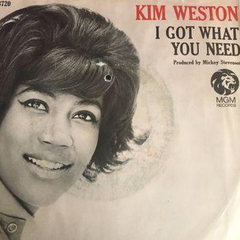 Kim Weston-I got what you need-MGM PS E+