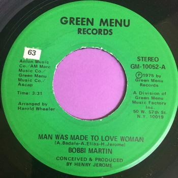 Bobbi Martin-Man was made to love woman-Green Menu E+