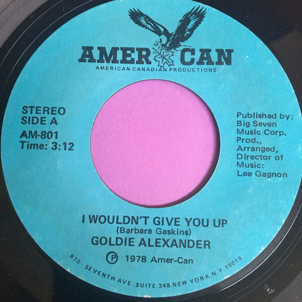Goldie Alexander-I wouldn't give you up-American E+