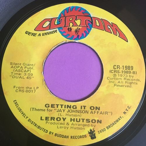 Leroy Hutson-Getting it on/When you smile-Curtom E+