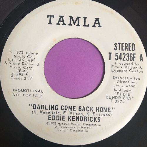 Eddie Kendricks-Darling come back home-Tamla WD E