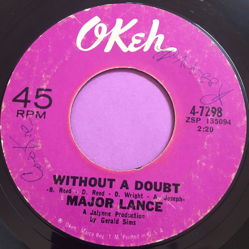Major Lance-Without a doubt-Okeh vg+