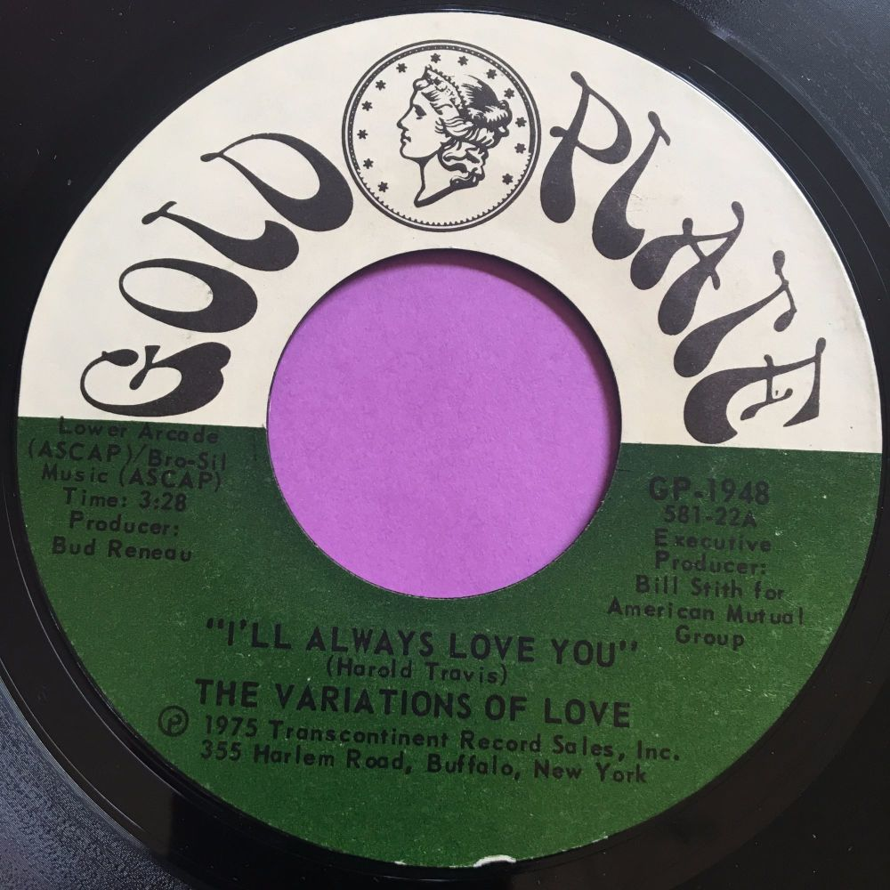 Variations of love-I'll always love you-Gold plate E