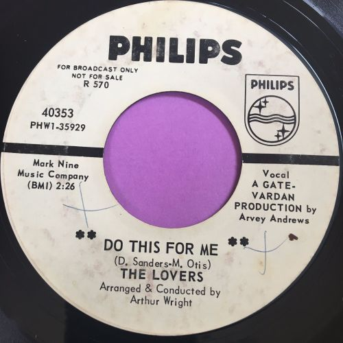 Lovers-Do this for me-Philips WD E