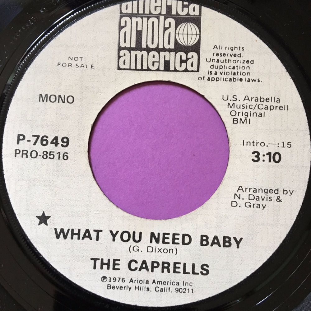 Caprells-What you need baby-Ariola WD E
