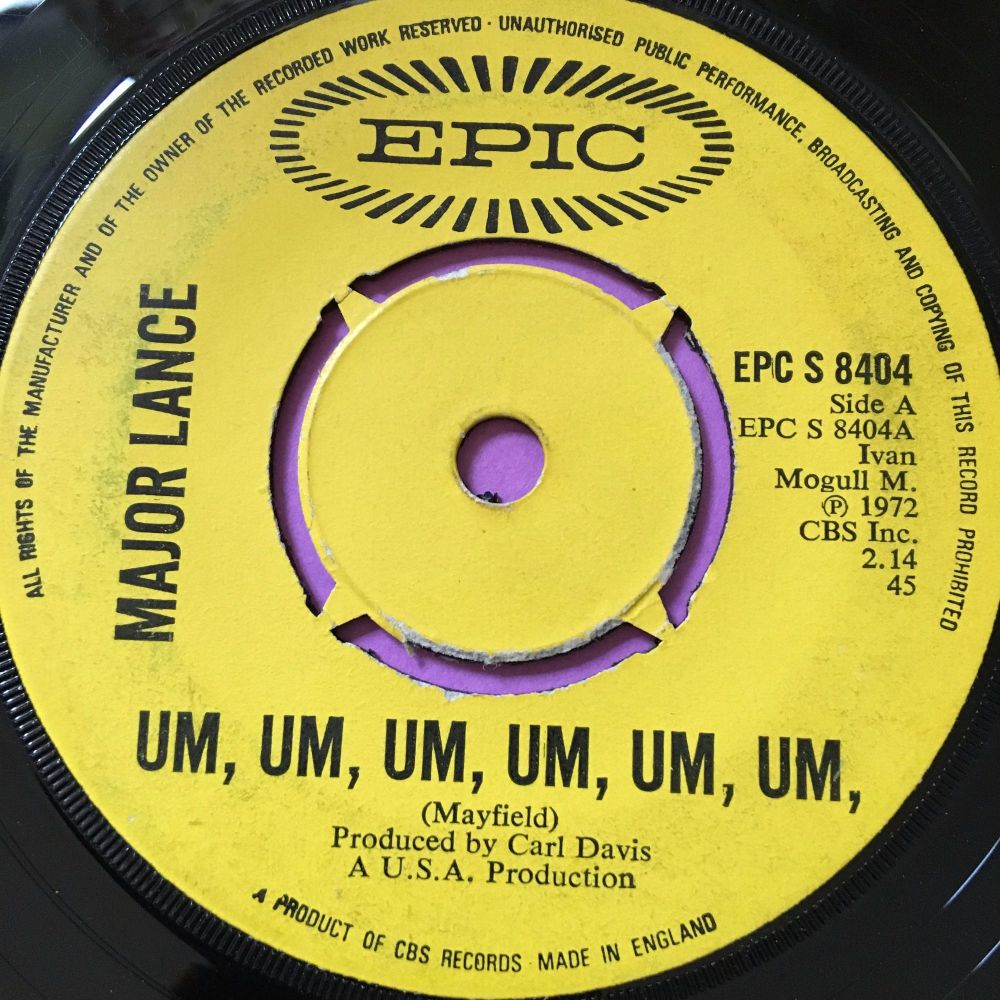Major Lance-Um, um,um,um,um,um-UK Epic vg+