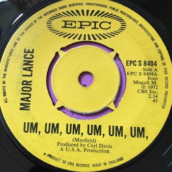 Major Lance-Um, um,um,um,um,um-UK Epic vg+